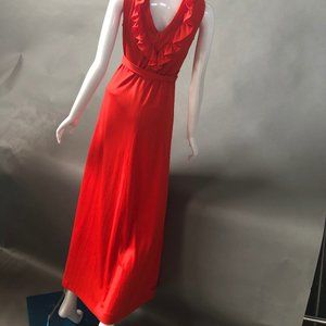 Jerrell of Texas Dresses - Red Vintage Maxi Dress by Jerrell of Texas